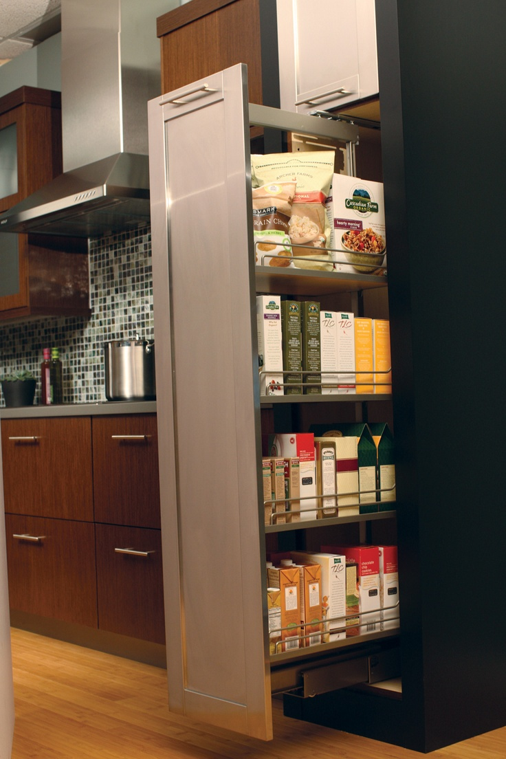 Tall pullout pantry provides an amazing amount of