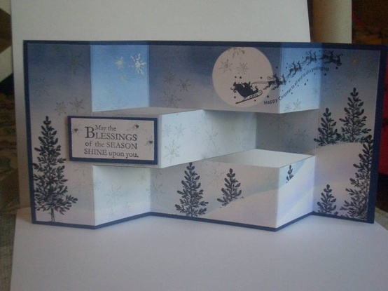 Wandering Tri Fold Christmas By Londonblue Cards And
