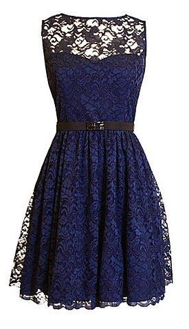 XSCAPE Short Dress Im in love! Possible bridesmaid dress? Gold instead of dark blue and floor length would be gorgeous