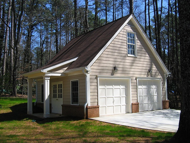 Garage Gable Roof w/ Shed Roof Entry GARAGES