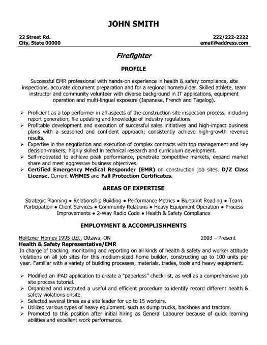 1000 ideas about firefighter resume on pinterest resume