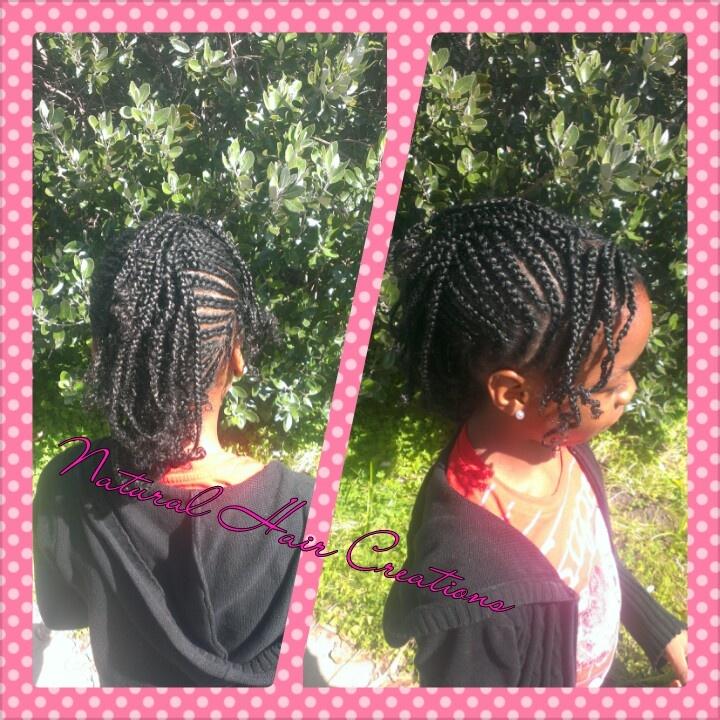 Kids Cornrow Style Natural Hair Creations My Work