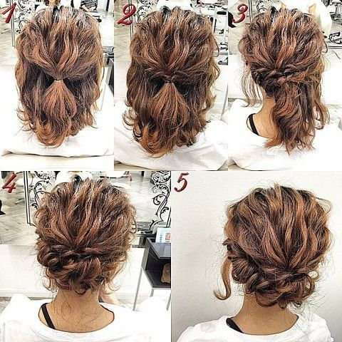 Sweet and simple   romantic and easy up do on naturally curly hair