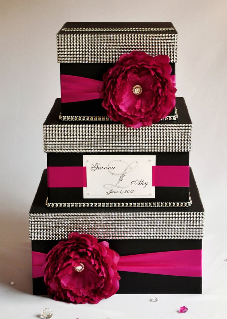 Card box / Wedding Box / Wedding money box 3 tier
