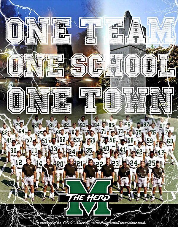 One team . . . Marshall University Marshall University