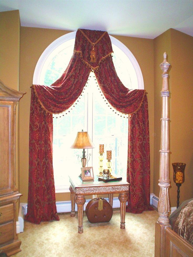 arch window drapery ideas