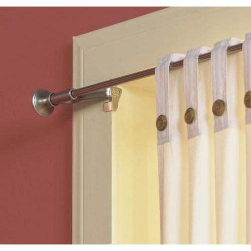 Levolor Kirsch 70042444 Twist And Fit Tool Less Curtain Rod Satin Nickel Decor