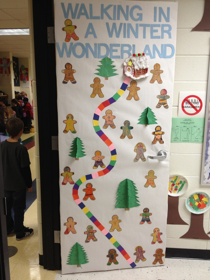 Winter Door Decorating Ideas For School   Elitflat 1000 Images About Christmas Teacher Doors On Pinterest  SaveEnlarge      Free  Page Scene Kit I Winter Wonderland Decorating Ideas