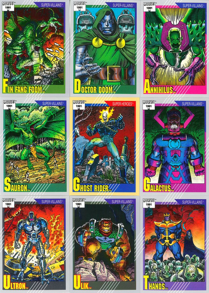 Impels second series of marvel trading cards 1991 art