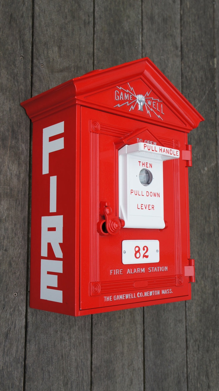 Antique Gamewell Fire Alarm Station Box Antiques