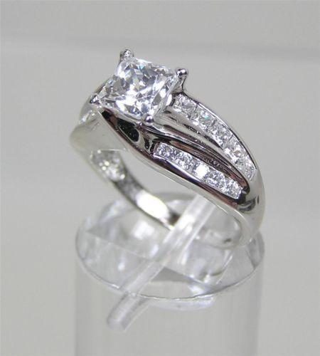 Epiphany Diamonique Ring Sterling Silver Princess Twist