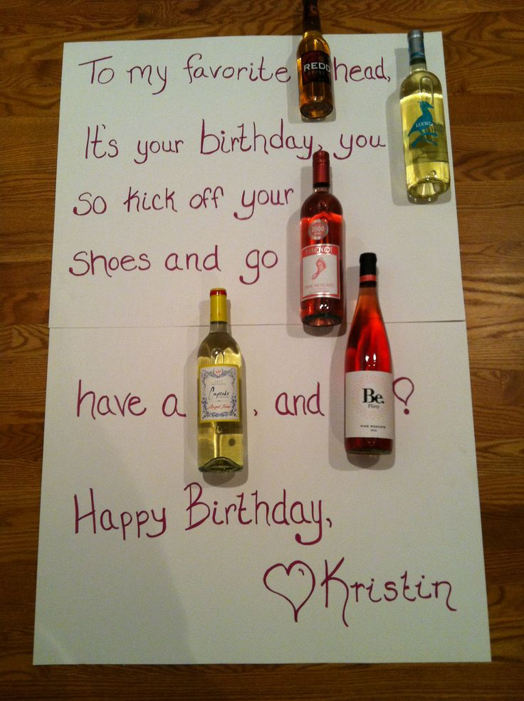 A Wine Birthday Card Way Better Than The Beer Cakes And