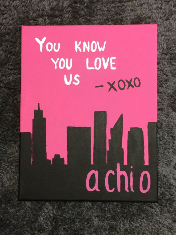 Custom Sorority Canvas – Alpha Chi Omega by CuteCanvasShop on Etsy  Super affordable prices for really cute canvases! Making a