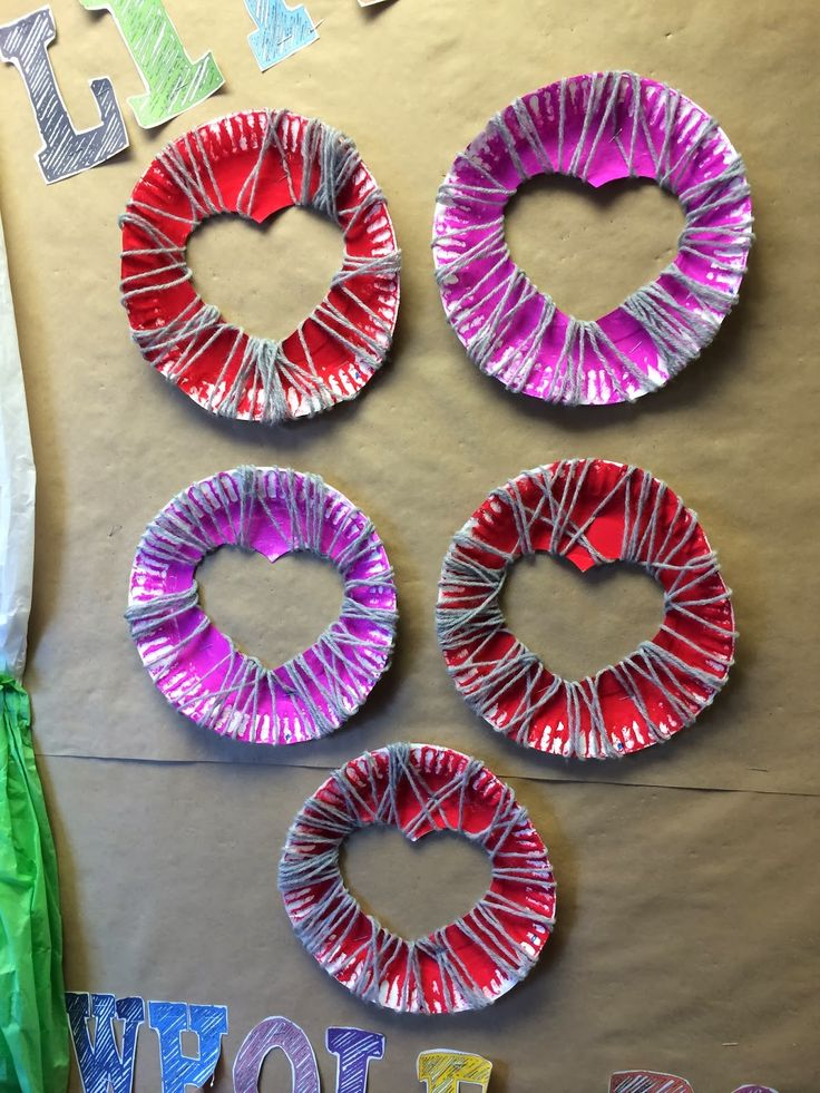"""Making """"Exploding Hearts"""" to practice fine motor control and to celebrate Valentine's Day. Students work with the concept of"""