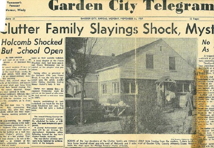 "Primera plana del diario ""Garden City Telegram"