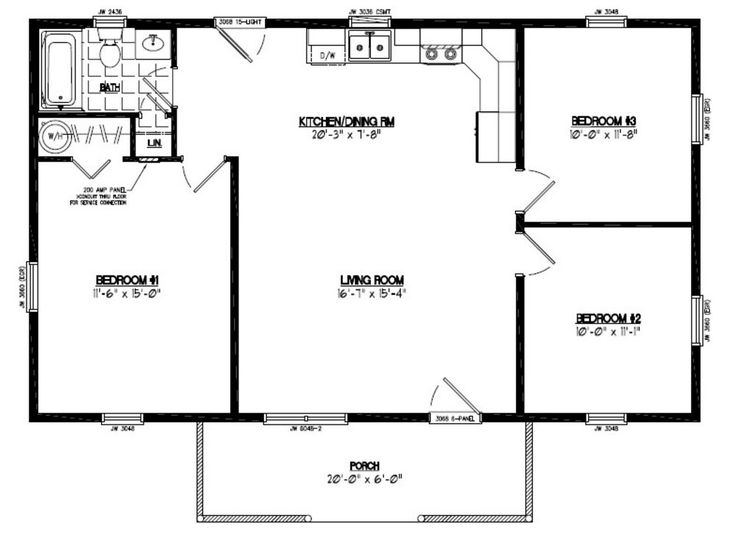 Image Result For 30 By 40 Floor Plans