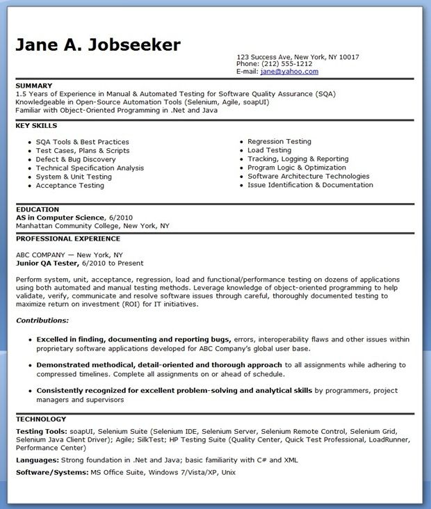 Inventory Control Resume Sample Two, Operations Resume