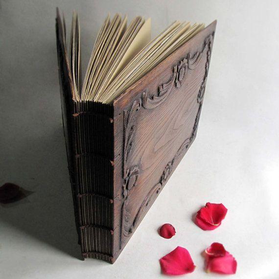 Wood Photo Album Scrapbook Extra Large Wedding Wood Book