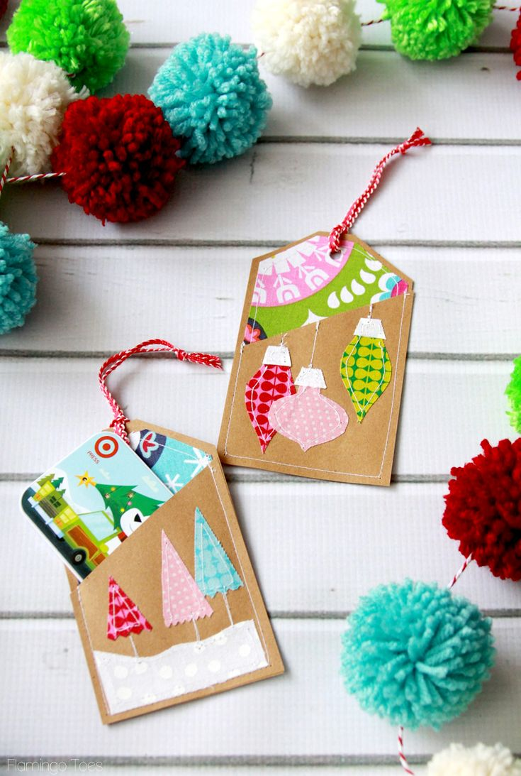 Colorful Stitched Gift Card Holders Gift card holders