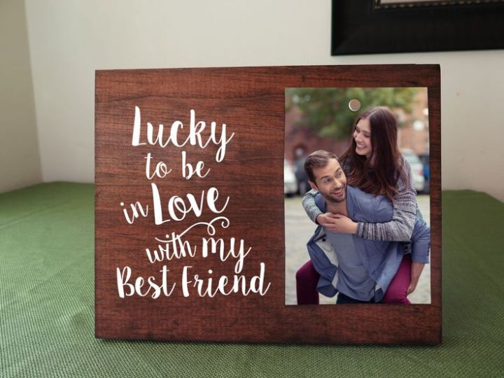 Decorate Picture Frame For Boyfriend | secondtofirst.com