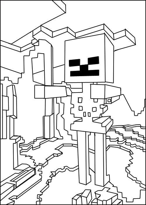 minecraft coloring pages minecraft skeleton2 more coloring pages