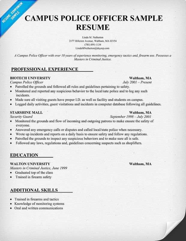 police resume resume examples resume and police officer resume
