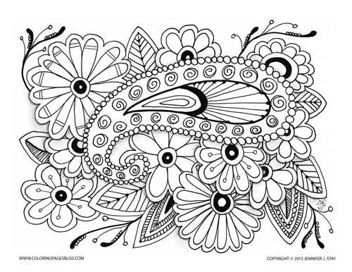 flowers and paisley coloring pages beautiful coloring page paisley