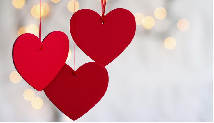 Three Red Hearts Symbol Of Love Valentines Day HD