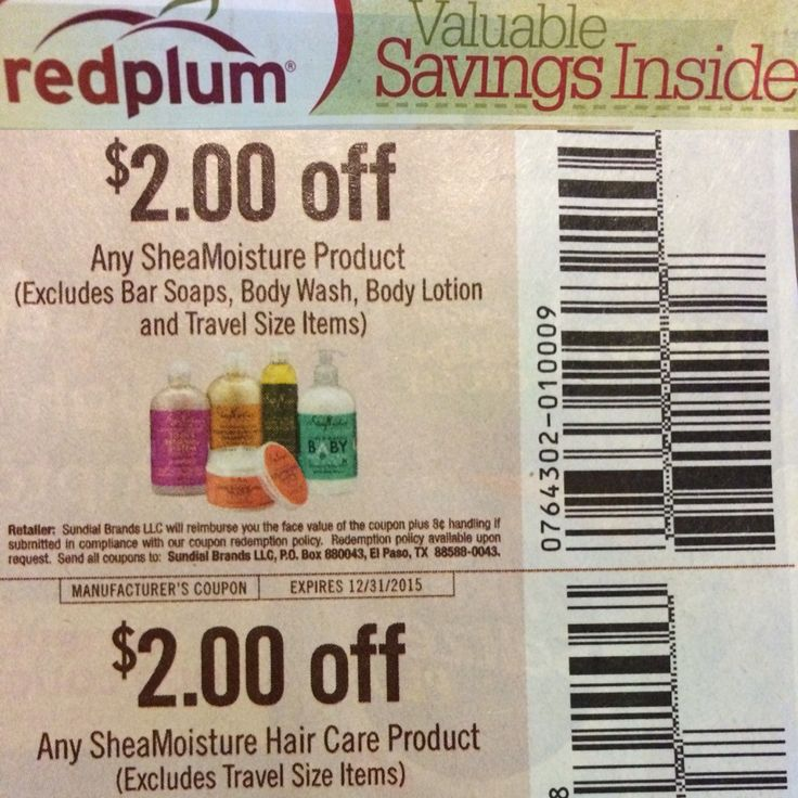 COUPON! SHEA MOISTURE! SALE! In the Red Plum Valuable