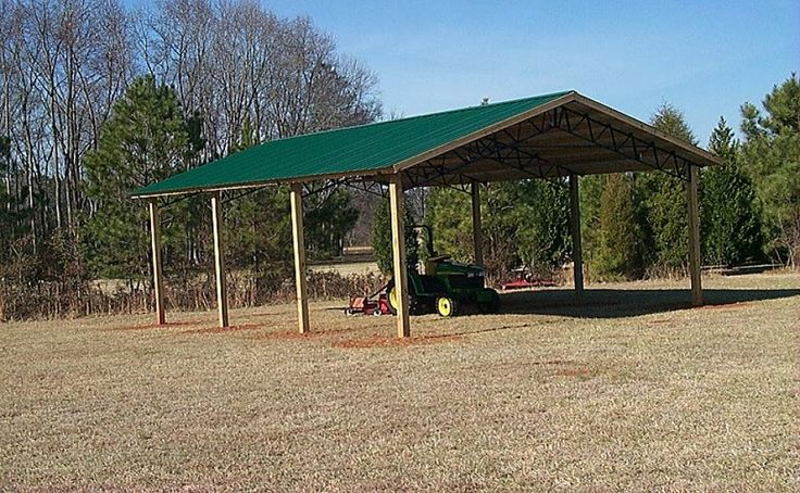 Pole Barn Basic= Roof and support Structure only farm