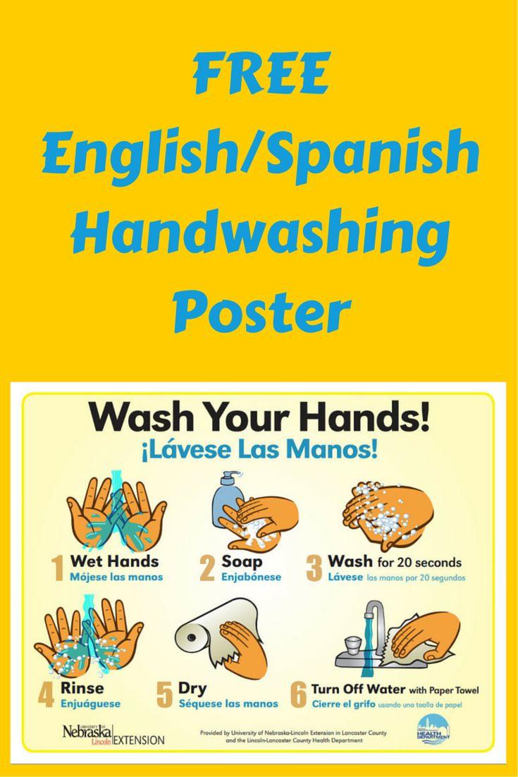 FREE English / Spanish Handwashing poster use for