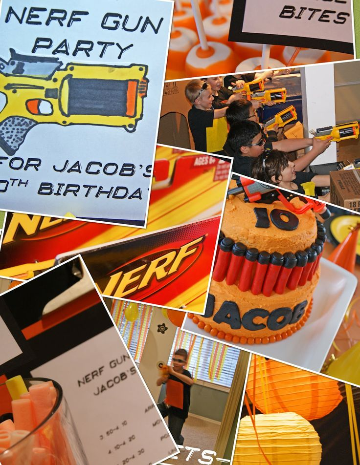 78 Images About Nerf Party On Pinterest Birthdays