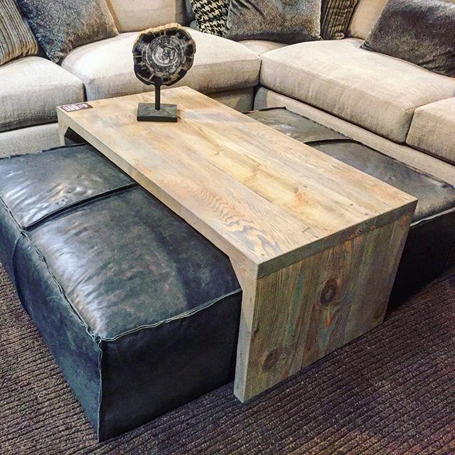 Leather Ottomansliding Wood Coffee Table Super Stylish