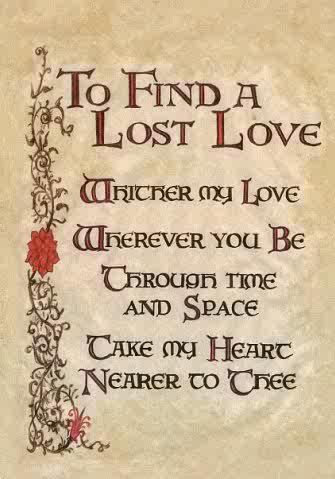 To Find A Lost Love Your Life Love Is And Witch Spell Book