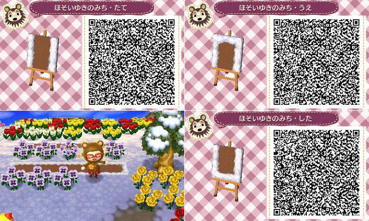 Animal Crossing Snow path QR code AC QR Paths