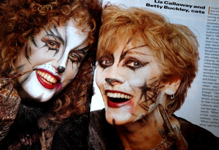 Liz Callaway(left) and Betty Buckley(right), cats photo