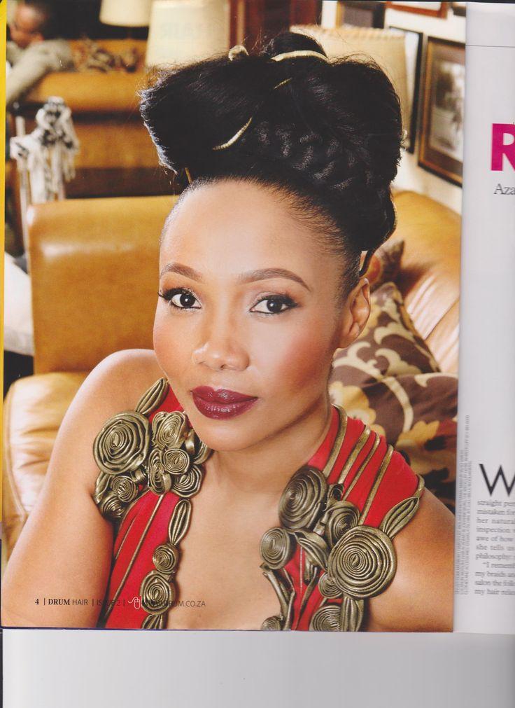 Azania Mosaka from Drum Magazine's hair issue. Scanned