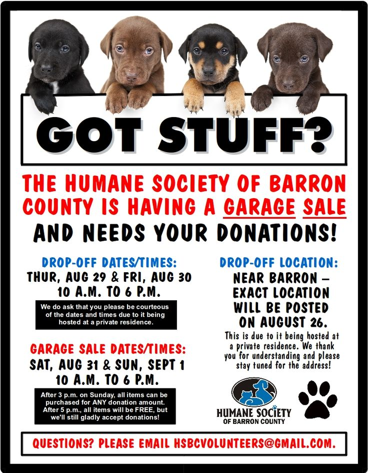Humane Society of Barron County Fundraiser Swant Graber