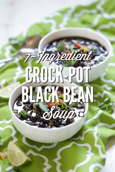 Super easy and so healthy! Just saute and dump in the crock-pot. Hours later delicious homemade black bean soup is ready to be served. I love this recipe. It feeds my family for days and costs just pennies to make.:
