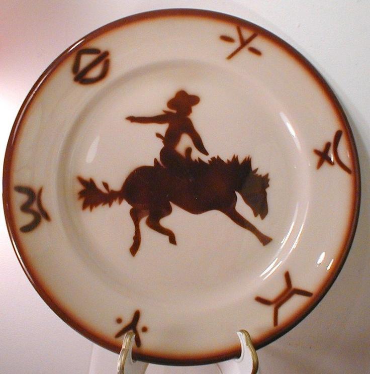 Vintage Jackson China Cowboy Amp Bronc Western Restaurant