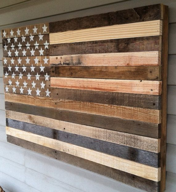 to hang on wall over guest bedroom upstairs Reclaimed pallet american flag hanging wall art 38 by Kustomwood