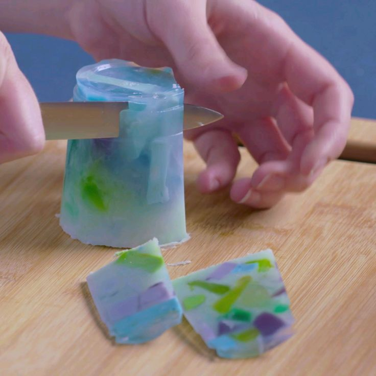 Learn how to make DIY gemstone soaps...