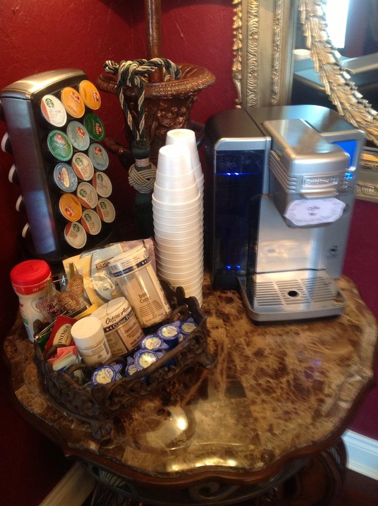 Bridal shower brunch... Coffee bar set up. Sassy Events