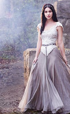 Reign Daily I would love a wedding dress similar to this… but in all white