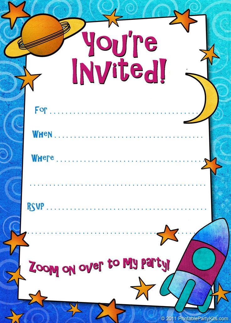 Free Printable Boys Birthday Party Invitations Birthday