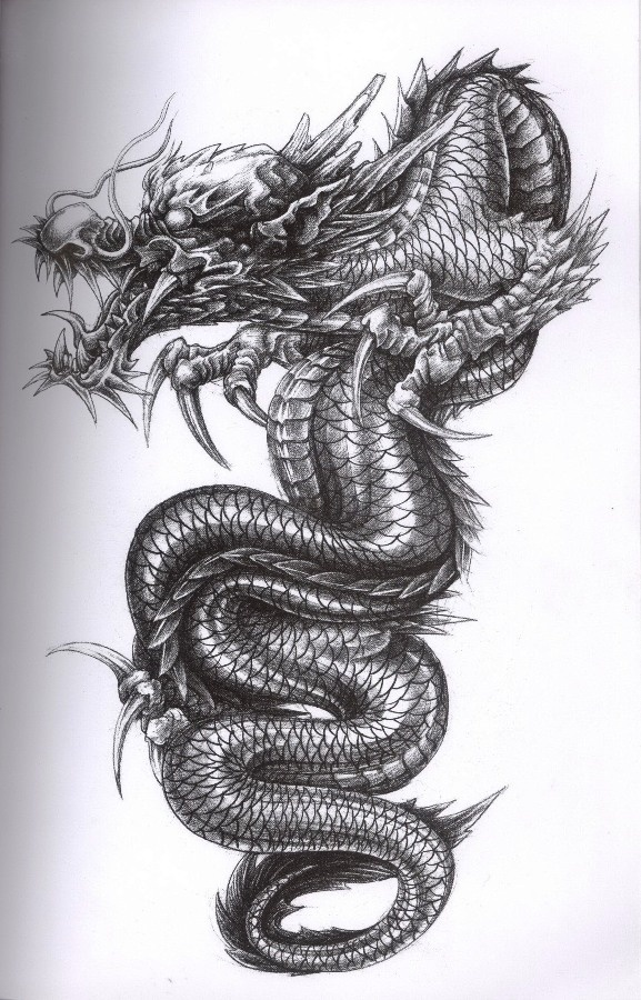 Black and Grey Dragon ART Body Tattoo's Pinterest