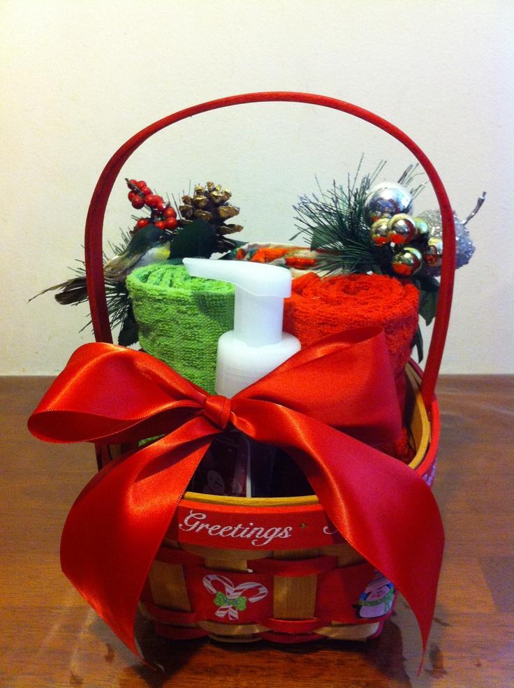 Christmas gift basket Basket raffle ideas Pinterest