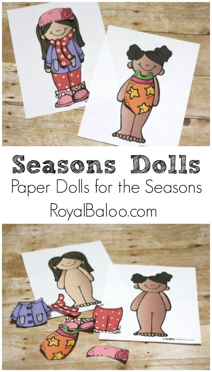 Free Paper Doll Pattern to practice dressing for the
