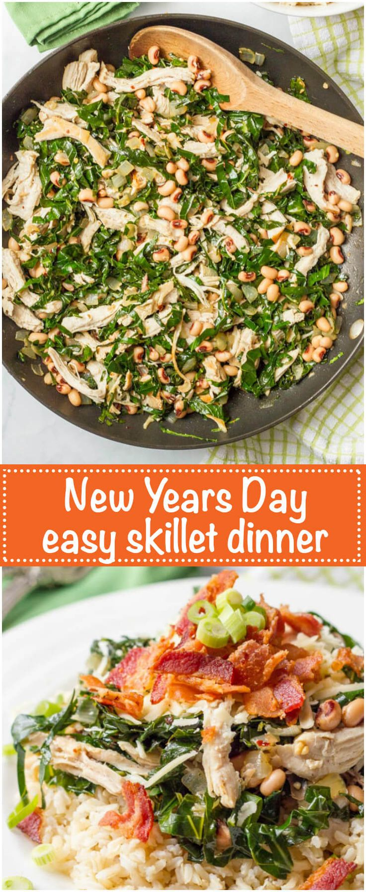 Southern New Year's Day dinner skillet Recipe
