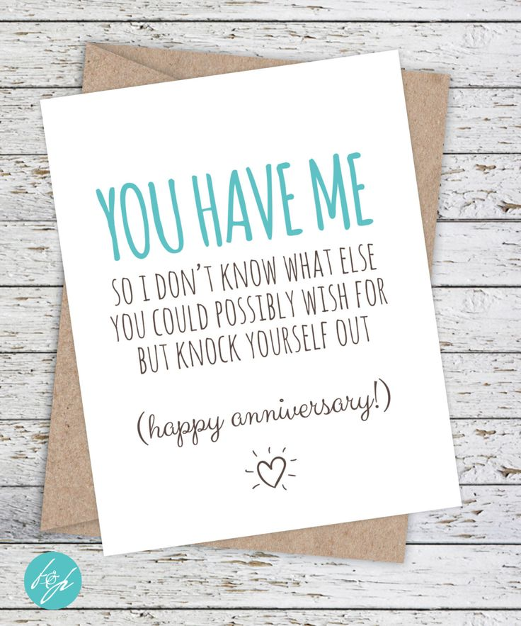 Anniversary Card Funny Boyfriend / Girlfriend Card